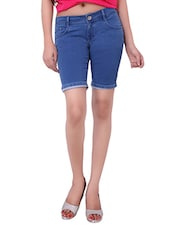 blue denim shorts -  online shopping for Shorts