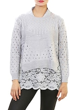 grey woolen pullover -  online shopping for Pullovers