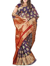 Gold Banarasi Silk Saree - By