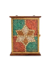 Brown Wooden Painted Key Holder Box - By