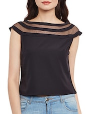 black crop top -  online shopping for Tops