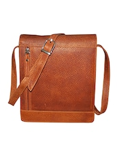 brown leather slingbag bag -  online shopping for Bags