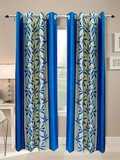 R Trendz Printed Set Of 2 Window Curtain - By