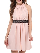 pink georgette dress -  online shopping for Dresses