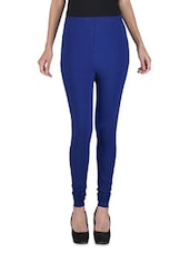 Solid Royal Blue Stretchable Leggings - By