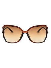 Zyaden Brown Oversized Sunglasses For Women 351 - By