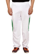 white polyester  full length track pant -  online shopping for Track Pants