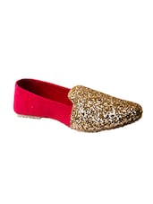 red fabric slip on ballerina -  online shopping for ballerina