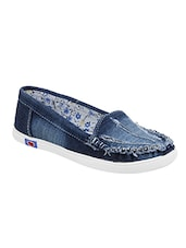 blue denim slip on loafers -  online shopping for Loafers