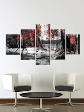 Poster (red white painting,Wall Covering Area 48 x 23 Inch) -  online shopping for Posters