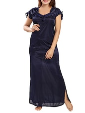 navy blue satin gown -  online shopping for Gowns & Kimonos