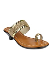 Gold One Toe sandal -  online shopping for sandals
