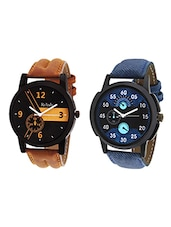 RELISH-1063C set of 2 analog watch -  online shopping for Watch Combos