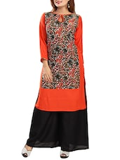 red rayon straight kurta -  online shopping for kurtas