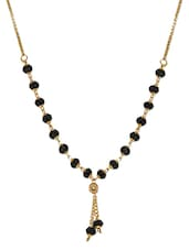 Gold And Black Metallic Beaded Chain - By