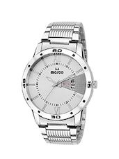 MARCO DAY N DATE MR-GR3012-WHITE-CHAIN ELITE CLASS ANALOGUE WATCHAIN FOR MEN & BOYS -  online shopping for Analog Watches
