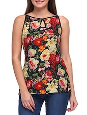Multicolored Floral Printed Crepe Top - By