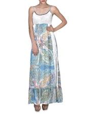 Multicolored Viscose Printed Sleeveless Maxi Dress - By - 1323290