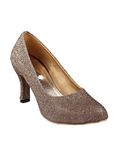 brown pu slip on pumps -  online shopping for pumps
