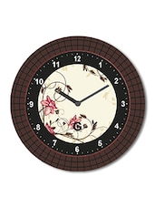 Multicolored Plastic And Glass Stars Printed Floral Printed Wall Clock - By