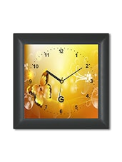 Multicolored Plastic And Glass Butterfly Printed Wall Clock - By