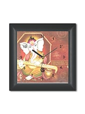 Multicolored Plastic And Glass Ganesha Designed Printed Wall Clock - By - 1326005