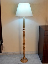 White Acrylic Wooden Floor Lamp - By