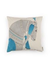 Horse Inspired Hand Painted Organic Cotton Cushion Cover - By