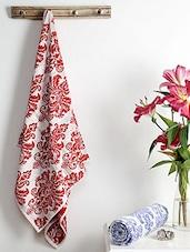 Multicolored Cotton Viscose Bath Towel (Set Of 2) - By