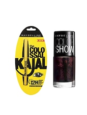 Maybelline The Colossal Kajal with Nail Enamel - Wine & Dined Free 0.35 g (Black) -  online shopping for beauty sets and combos