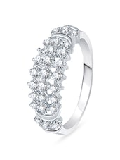 silver metal hand ring -  online shopping for rings