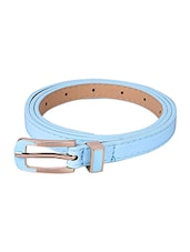 Blue Leatherette (pu Belt - By