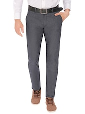 grey cotton chinos casual trouser -  online shopping for Casual Trousers