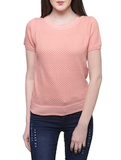 peach poly cotton regular top -  online shopping for Tops