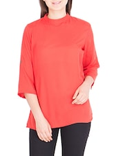 orange rayon regular top -  online shopping for Tops