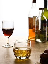 Transparent Glass Water And Whisky Tumblers (set Of 8) - By