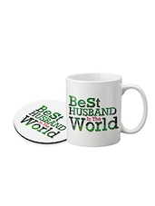 Ceramic Coffee Mug With Round Printed Coaster -  online shopping for Mugs