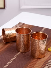 Frestol Hammered Set of 3 Copper Glass -  online shopping for Drinking Sets