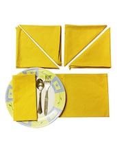 Yellow Table Napkin Set Of 6 Pcs - By