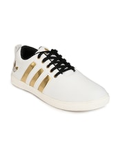 white leatherette lace up shoe -  online shopping for Shoes