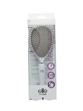 Elite Models Metal Bristles Cushion Hair Brush - White - By