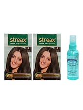 STREAX HAIR COLOR BROWN WITH PINK ROOT HAIR SERUM - By