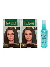 STREAX HAIR COLOR LIGHT BROWN WITH PINK ROOT HAIR SERUM - By