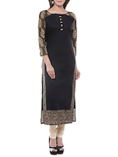 black cotton high slit kurta -  online shopping for kurtas
