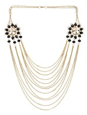 Black Gold Plated Long Necklace - By
