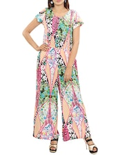 multicolored crepe full leg jumpsuit -  online shopping for Jumpsuits