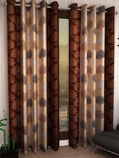 Home Fantasy Set Of 2 Printed Long Door Curtain - By