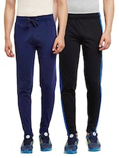 multi colored set of 2 cotton track pant -  online shopping for Track Pants