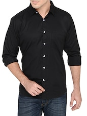 black cotton blend casual shirt -  online shopping for casual shirts