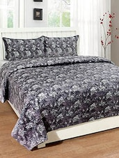 Trendz Home Furnishing Printed Velvet Double Bed cover with 2 Pillow Covers -  online shopping for bed covers